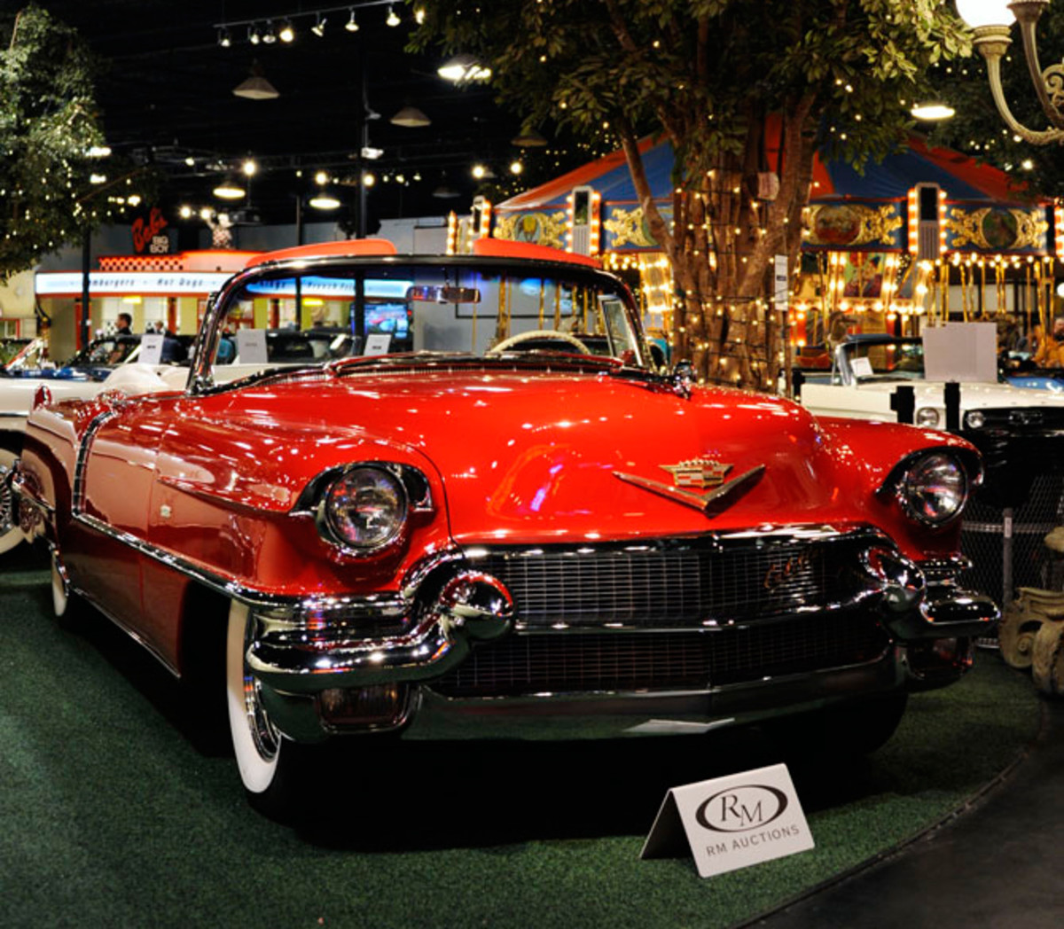 Record-setting 1956 Cadillac Series 62 Convertible (Photo by Eugene Robertson © 2012 courtesy RM Auctions)