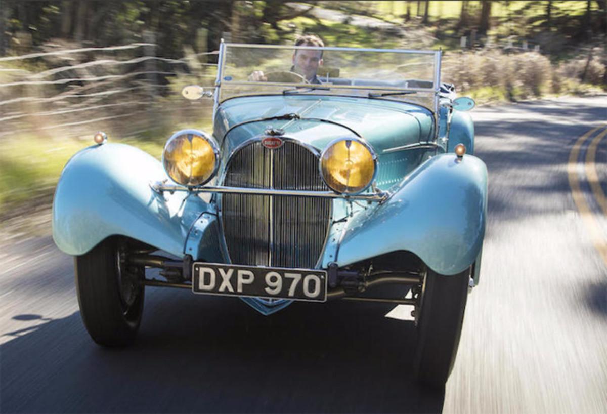 Bugatti driving