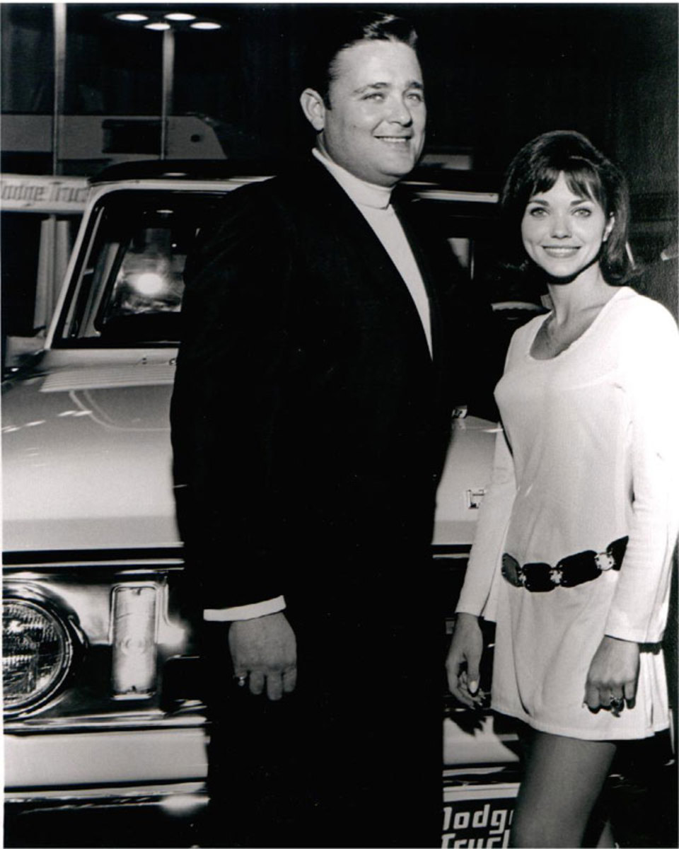 Here's Mr Norm with one of the original Dodge Girls back in the '60s or '70s.