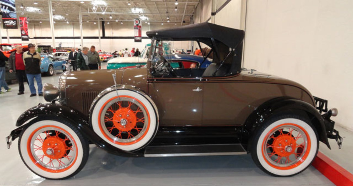 This Model A Roadster gaveled at $13,200.