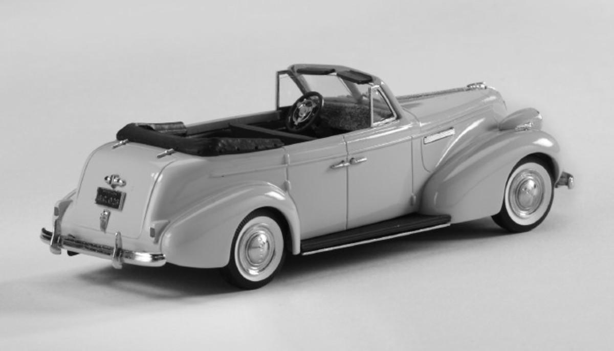 1939 Buick Century convertible sedan from Brooklin models.
