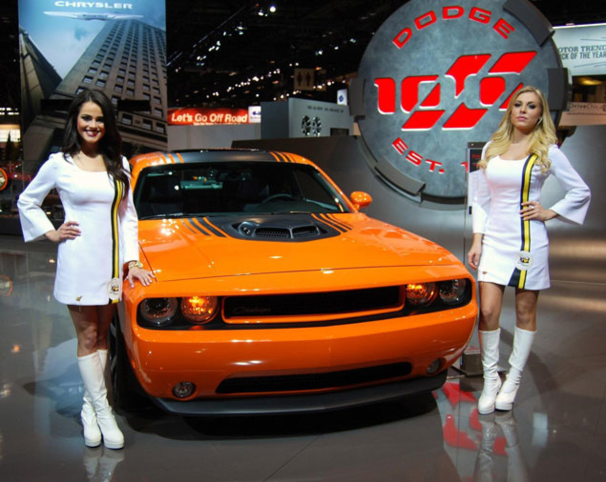 The Dodge Girls were back selling Challengers at the 2014 Chicago Auto Show.