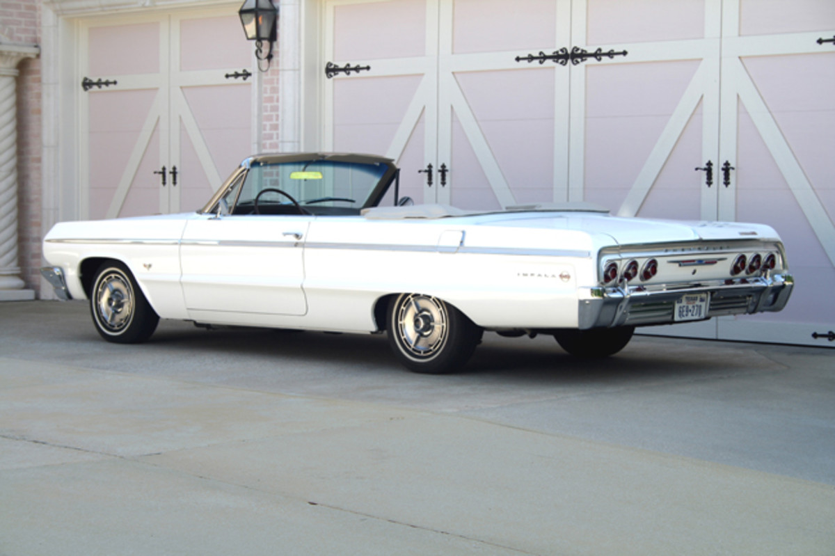 The 1964 Impala was a reskinned version of the 1963. The Super Sport went from an option package to model status and accounted for over 185,000 sales.
