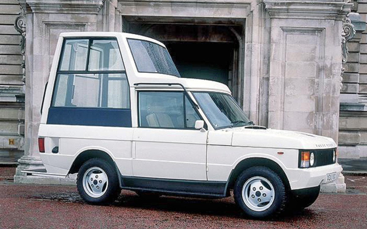 This 1982 Range Rover Popemobile was one of two built for a trip to England.