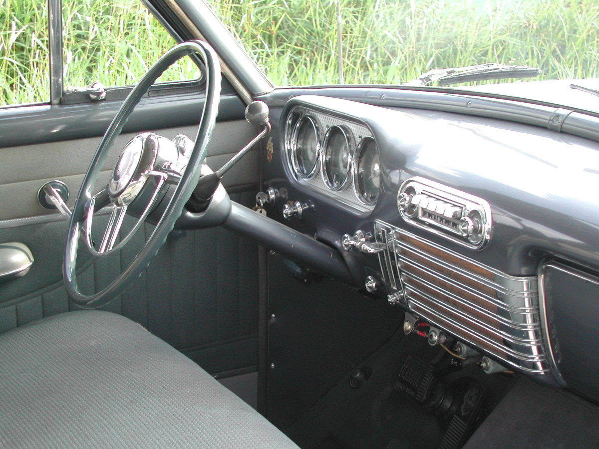 Willie and MichaelMehn's Packard was in good, original condition when they purchased it, so the car only underwent a sympathetic cosmetic restoration. The interior was left in original condition.