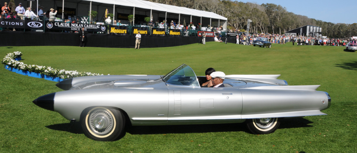 Production 1959 Cadillacs are already wild, but the 1959 Cadillac Cyclone show car outdid them all.