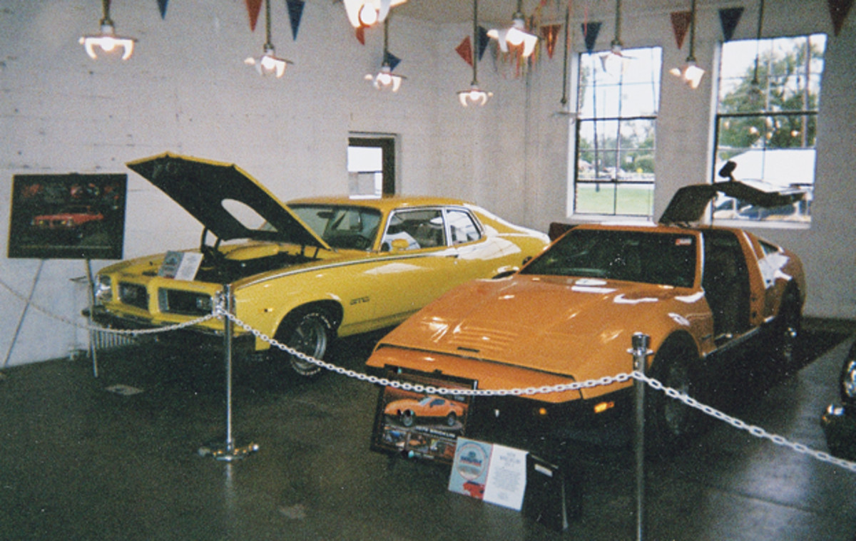 A unique aspect of Fall Carlisle's 40th anniversary celebration was a display of collector cars representing each of the years (1974-2014) the event has run. The first two years were represented by the 1974 Pontiac Ventura GTO coupe owned by Kevin and Karen Shaffer of Dover, Pa., and '75 Bricklin SV1 gullwing coupe owned by Mike Black of Etters, Pa.