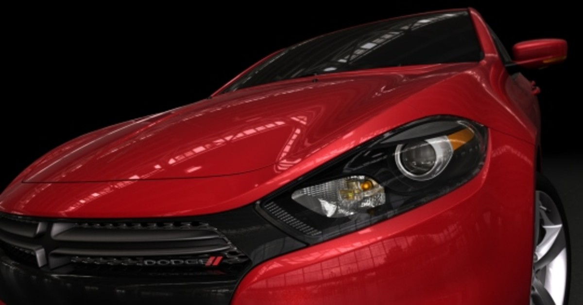The new Dart appears to have the aggressive nose of contemporary Dodge vehicles.
