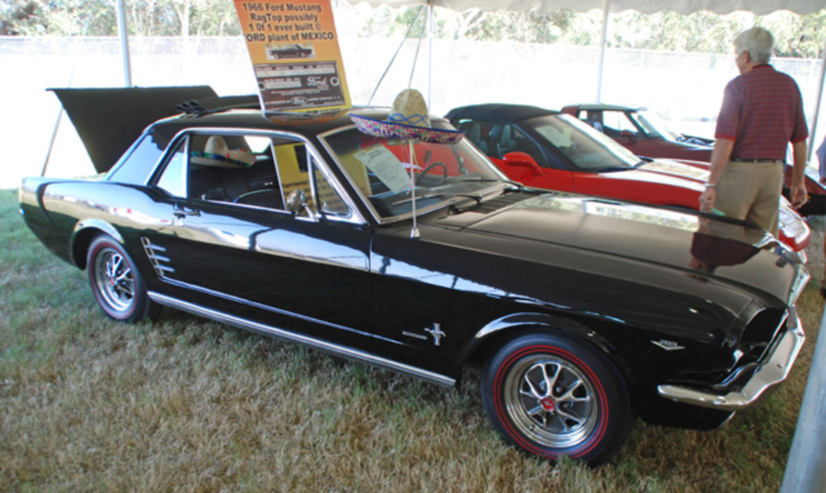 One of the most unusual Mustangs we have ever seen is this 1966 coupe, a knock-down export built in Mexico.