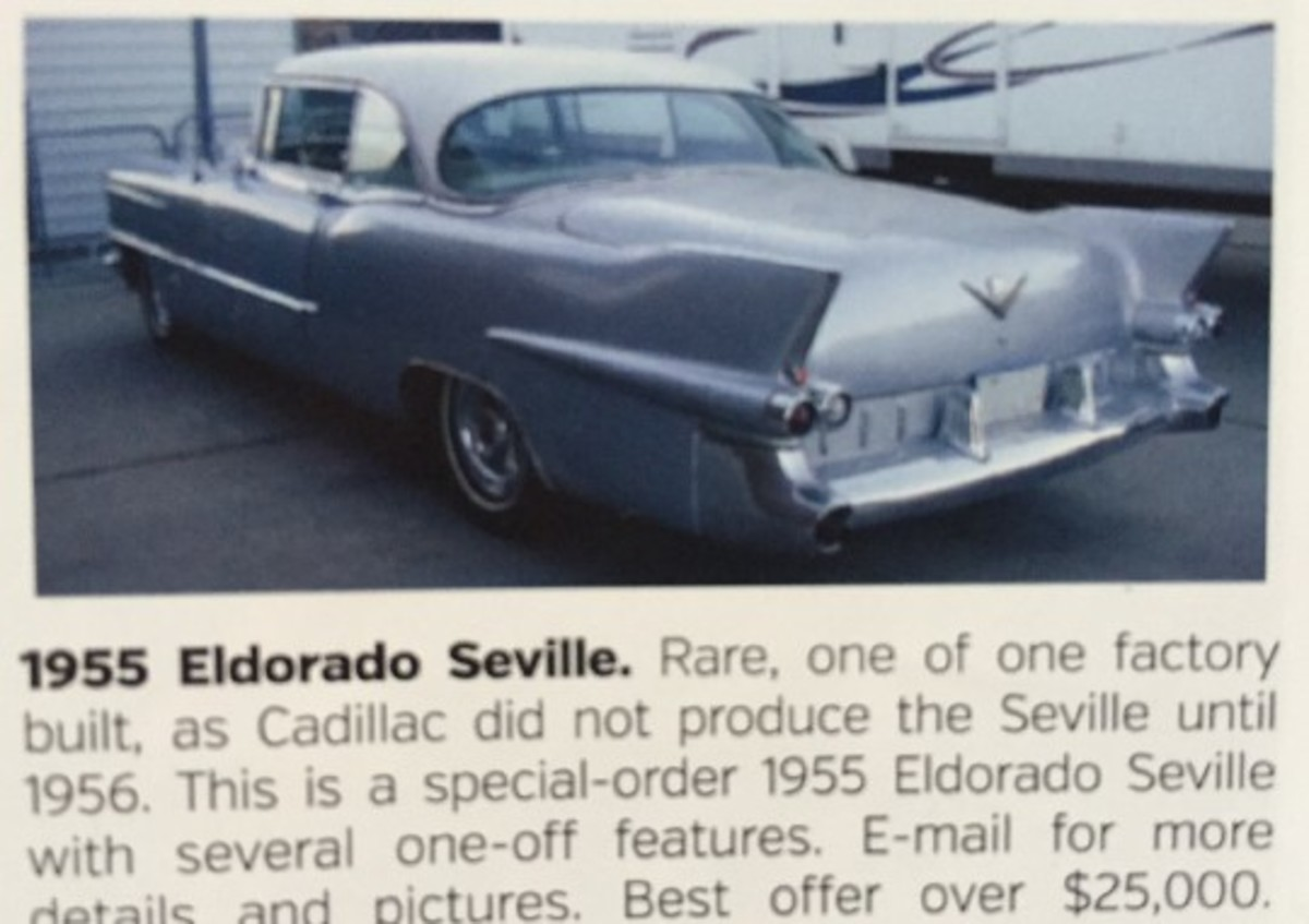 An ad for the 1955 Cadillac Eldorado two-door hardtop in the July 2015 Self-Starter.