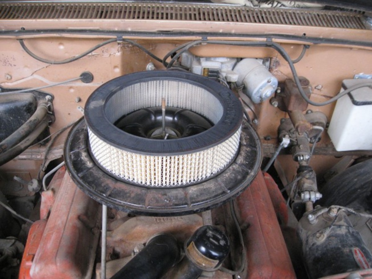 The original air cleaner remained like new, further proving the car has the 2 miles showing on the odometer.