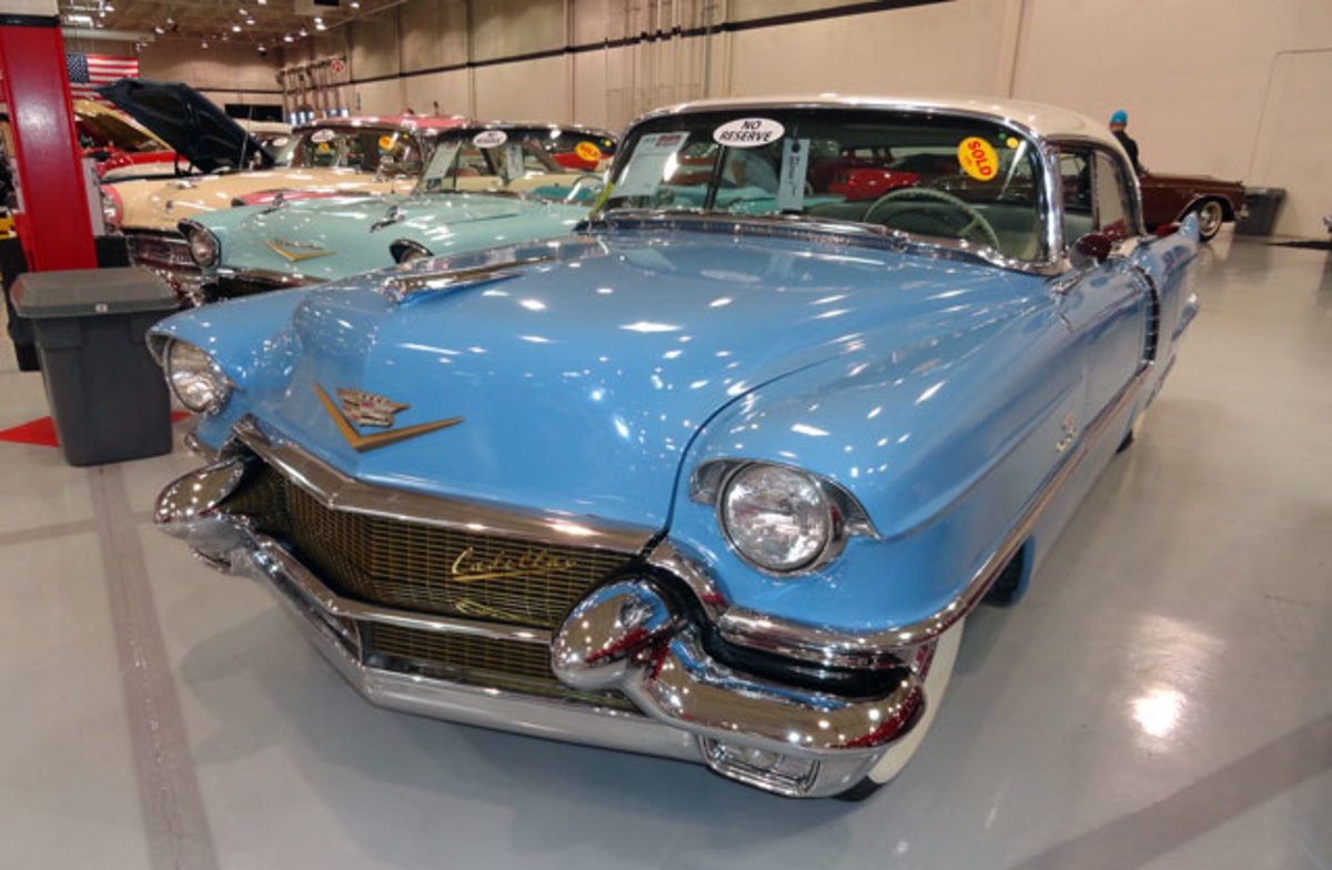 A 1955 Cadillac Deville 4dr HT went for $11,900.