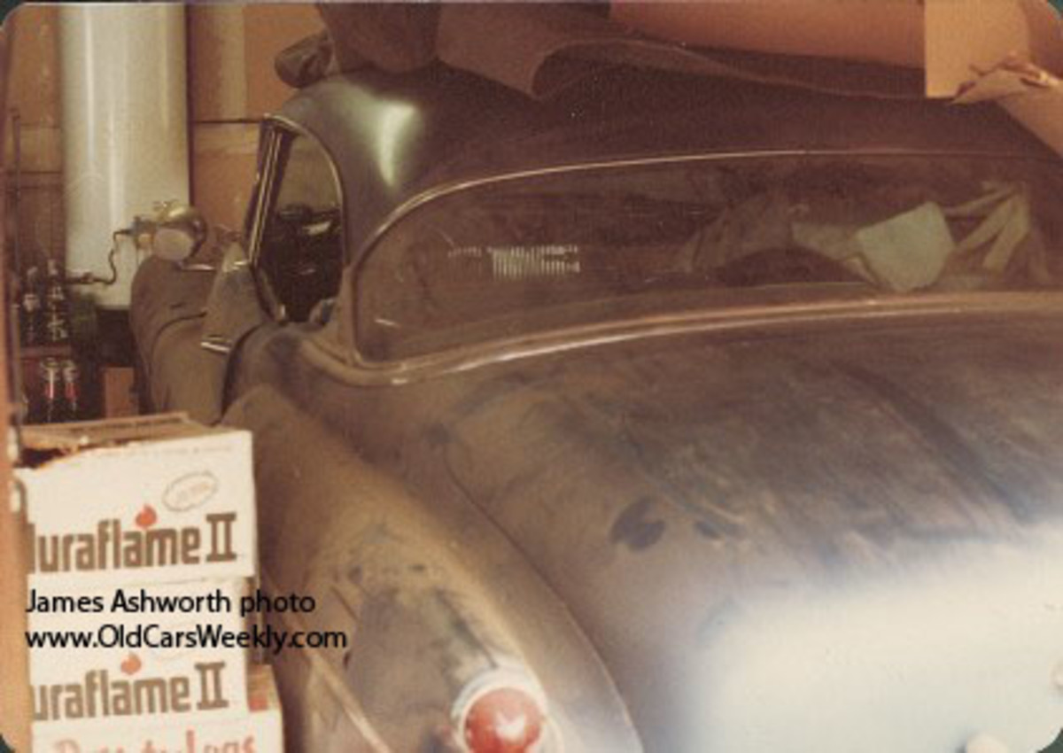 The 1953 Buick Skylark as found in 1980 by Jim Ashworth in San Jose, Calif.