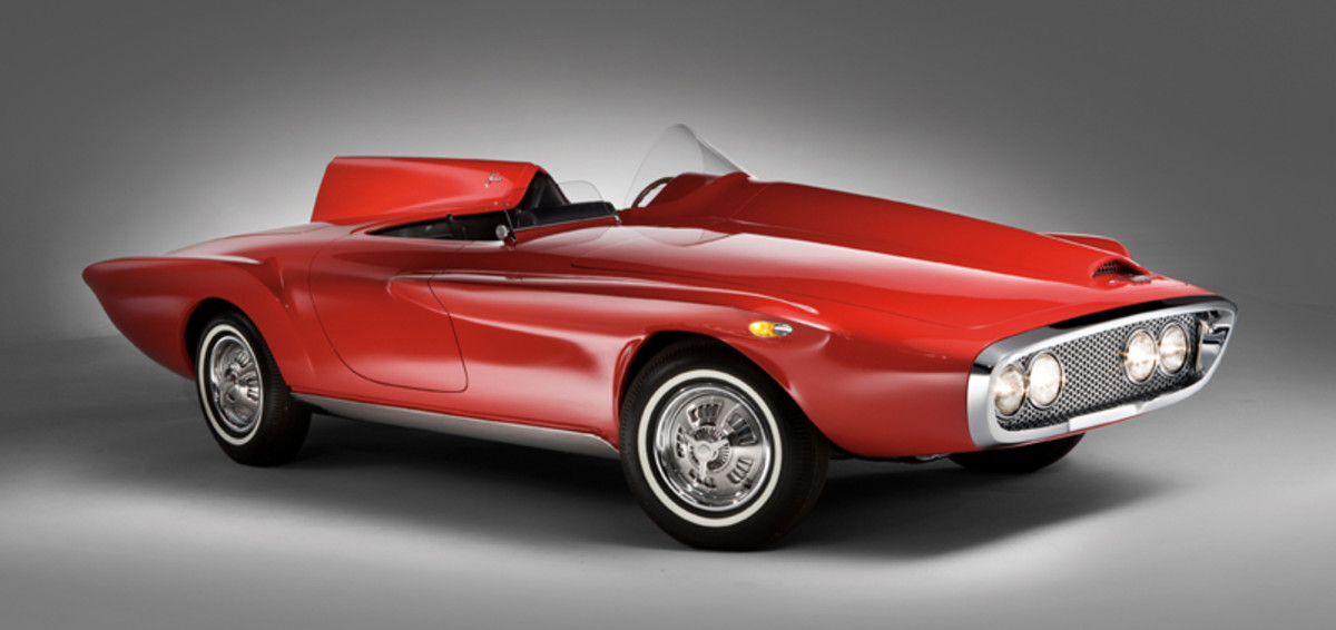 RM Auctions will offer the recently unearthed and restored XNR concept car at the auction company's Monterey sale.