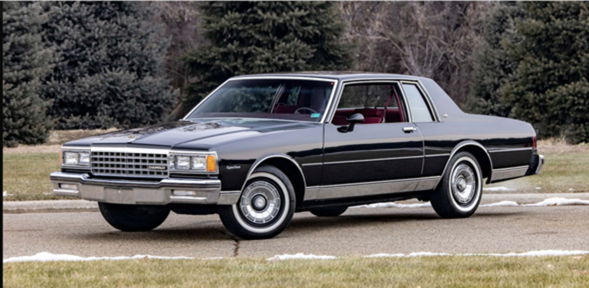 The 1981 Caprice Sport Coupe with red interior and 17,000-mile on offer at the 2019 Mecum Auctions Kissimmee sale. Mecum Auctions photo