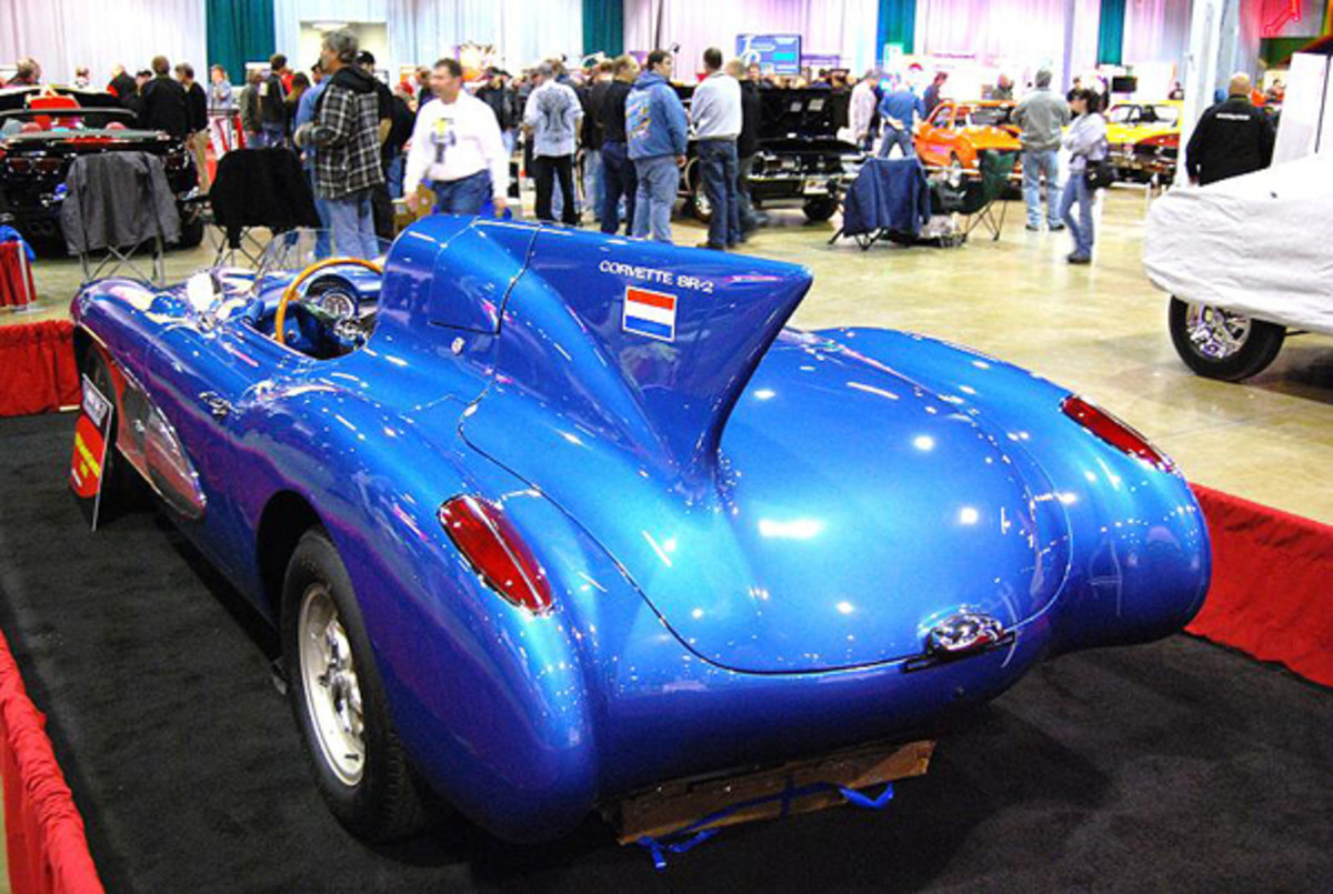 The '56 Corvette SR2 was one of the rare experimental cars at MCACN.