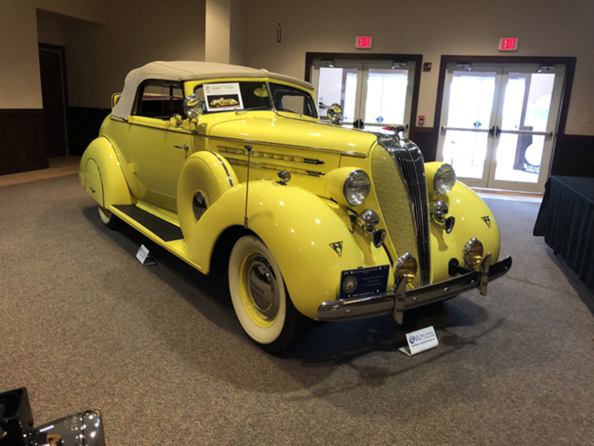 1936 Deluxe Eight Series 64 Convertible Coupe brought $163,250. (John Lyons photo)
