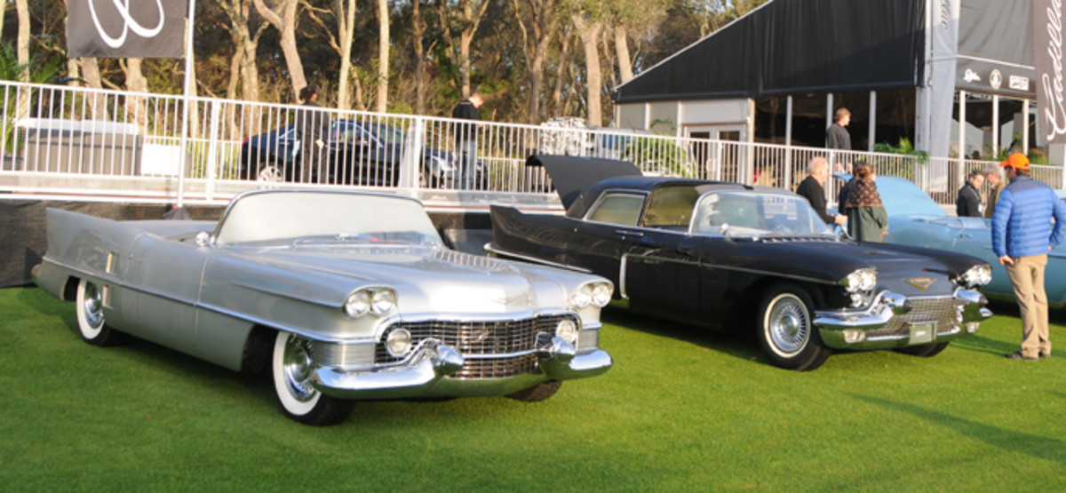 General Motors updated the styling of at least one of the LeMans concept cars, pictured above with the 1956 Eldorado Brougham Town Car show car.