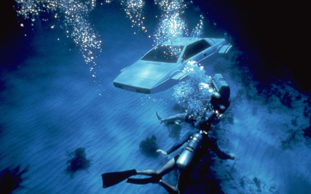 """""""Wet Nellie,"""" the submersible Lotus Espirit from the James Bond film """"The Spy Who Loved Me"""" sold for $863,500 today."""