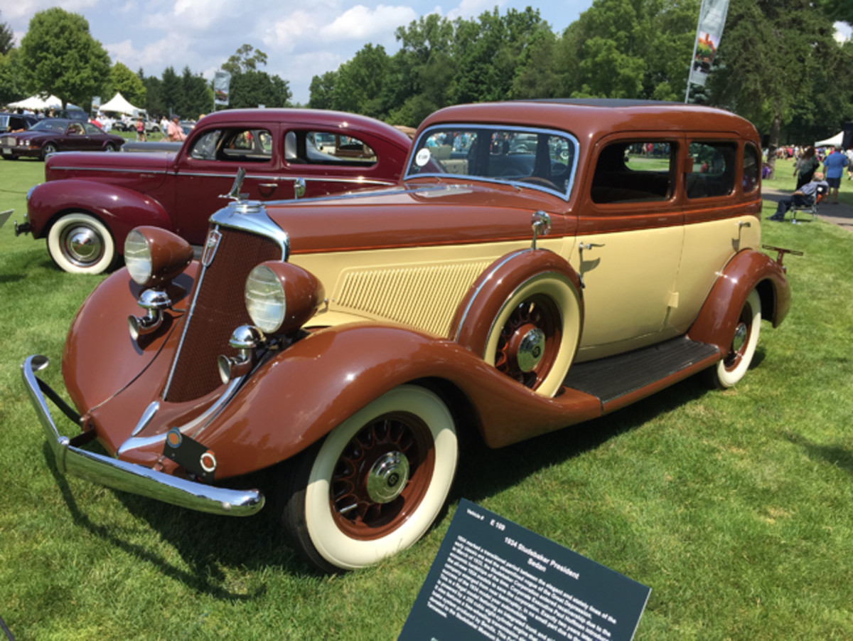An elegant and rarely seen 1934 Studebaker President sedan.