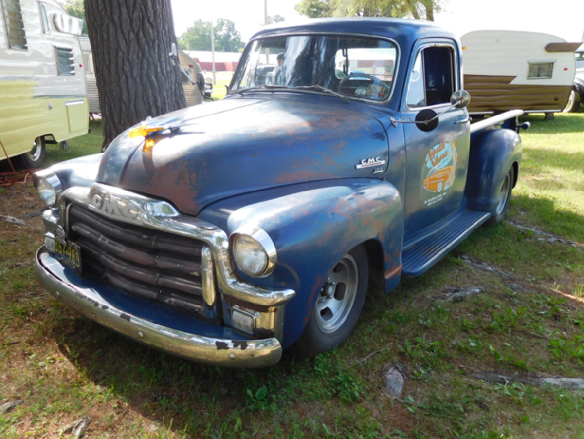 A lot of cars and trucks that came to Vintage Pipes & Stripes had lots of patina.
