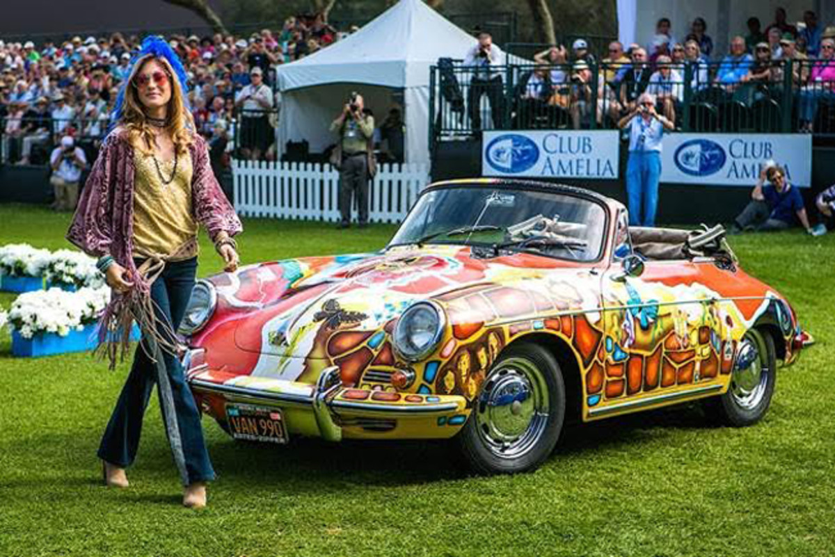 The Janis Joplin owned 1964 Porsche 356C at The Amelia in 2016