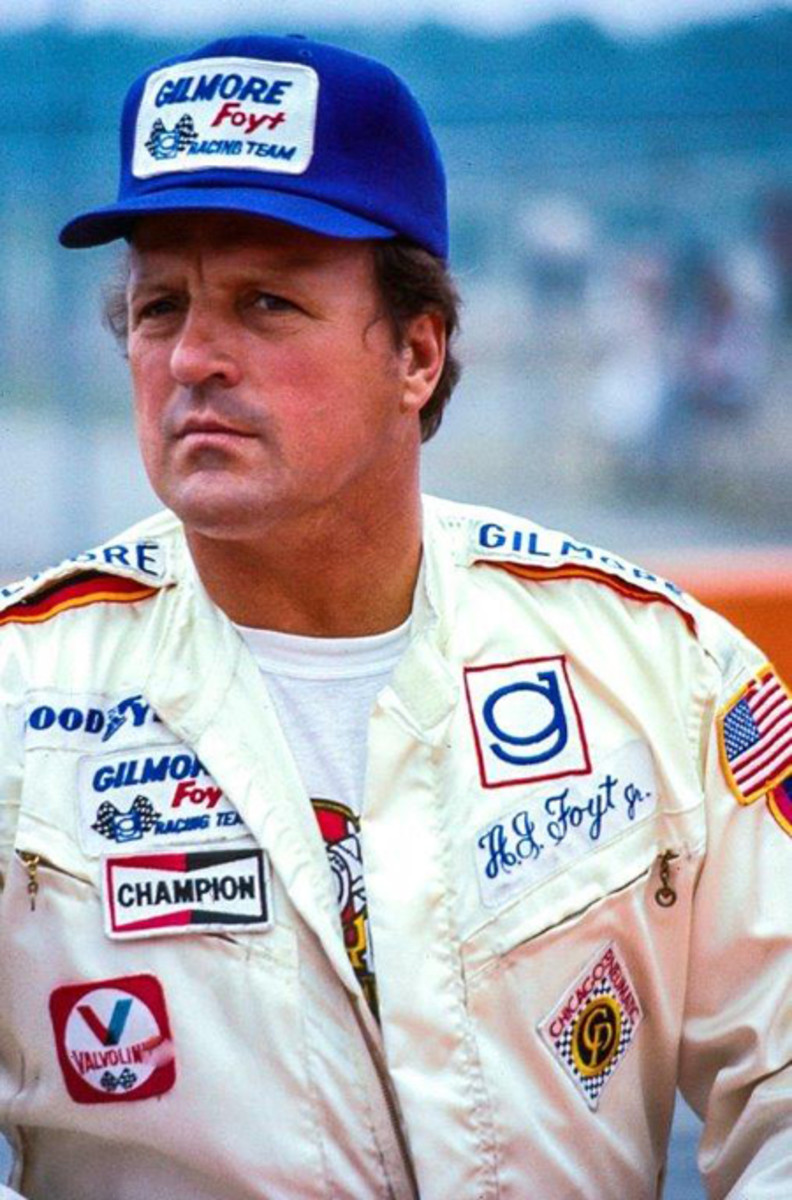 A.J. Foyt, who joined Kalamazoo-based Gilmore Race team in 1973 later became was the first driver to ever winthe Indy 500 four times. With a total of 67 career victories he became INDY CAR Racing's most acclaimed driver. He is also the only person to have won the Indy 500, the Daytona 500 and the 24 Hours of Le Mans.