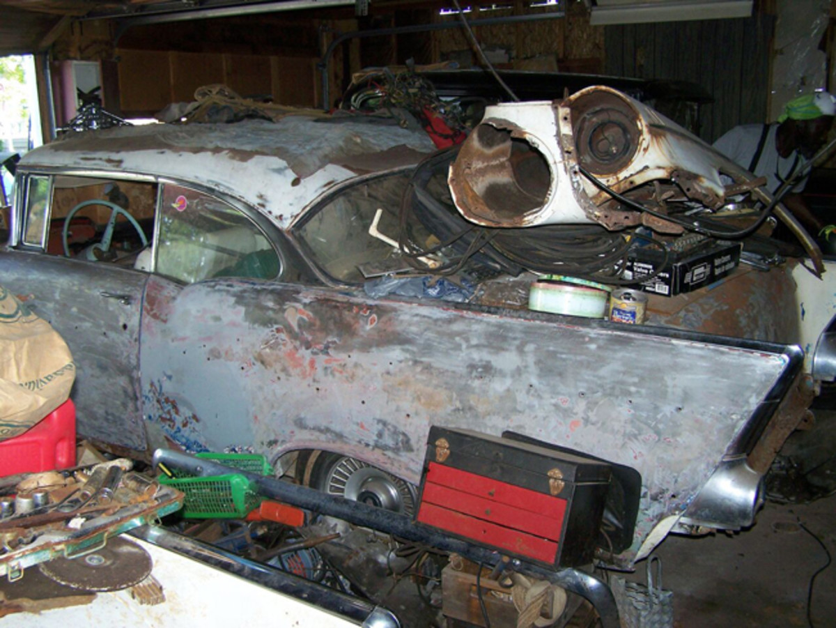 The '57 hardtop was also in the garage for 40 years.