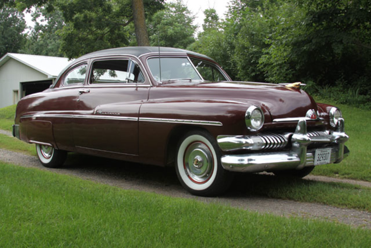 Mercury didn't yet have a hardtop by 1951, but its flashy Monterey coupe was just as good looking.
