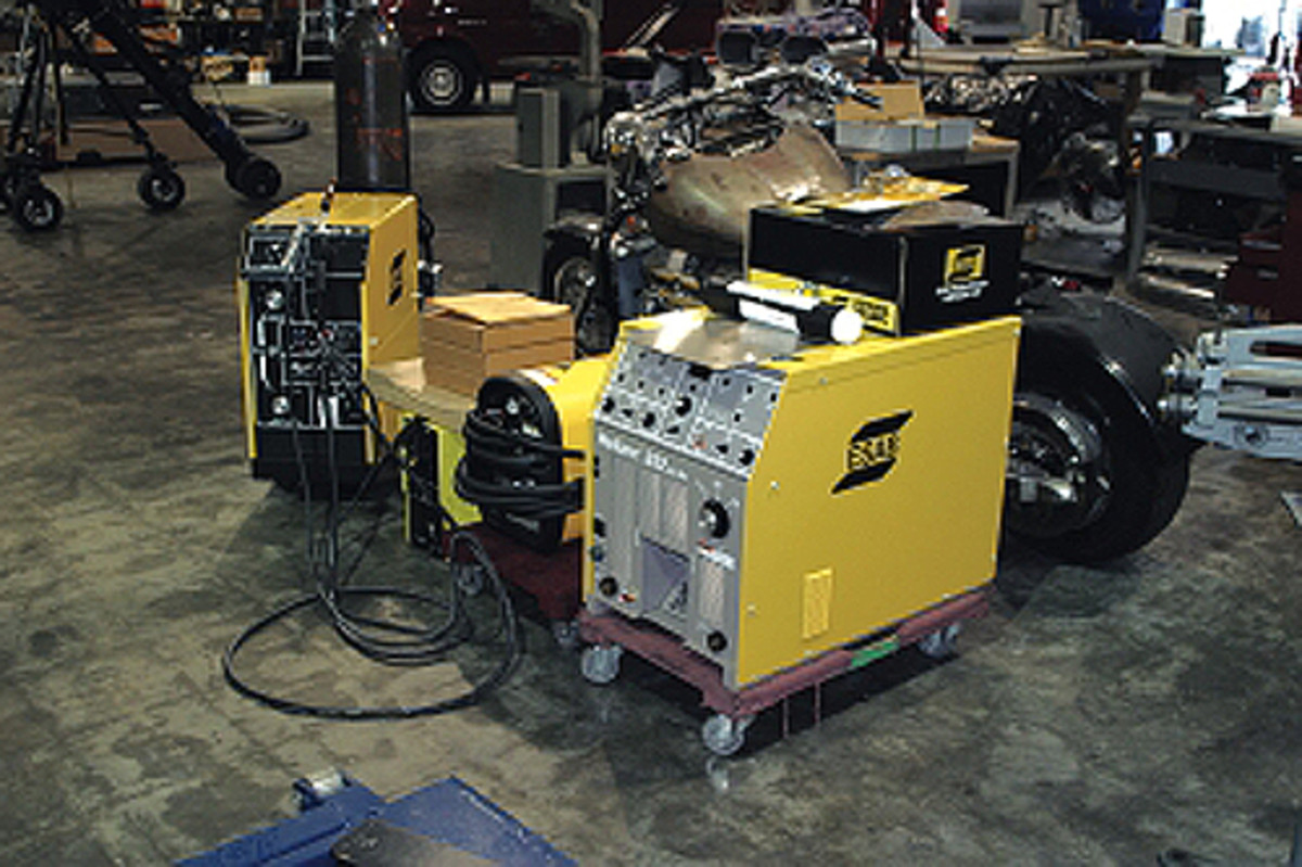 We work with most of the welding companies — Miller, ESAB, and Lincoln — as well as the companies that make plasma cutters, such as Hypertherm. They all have different features that make each of them unique.
