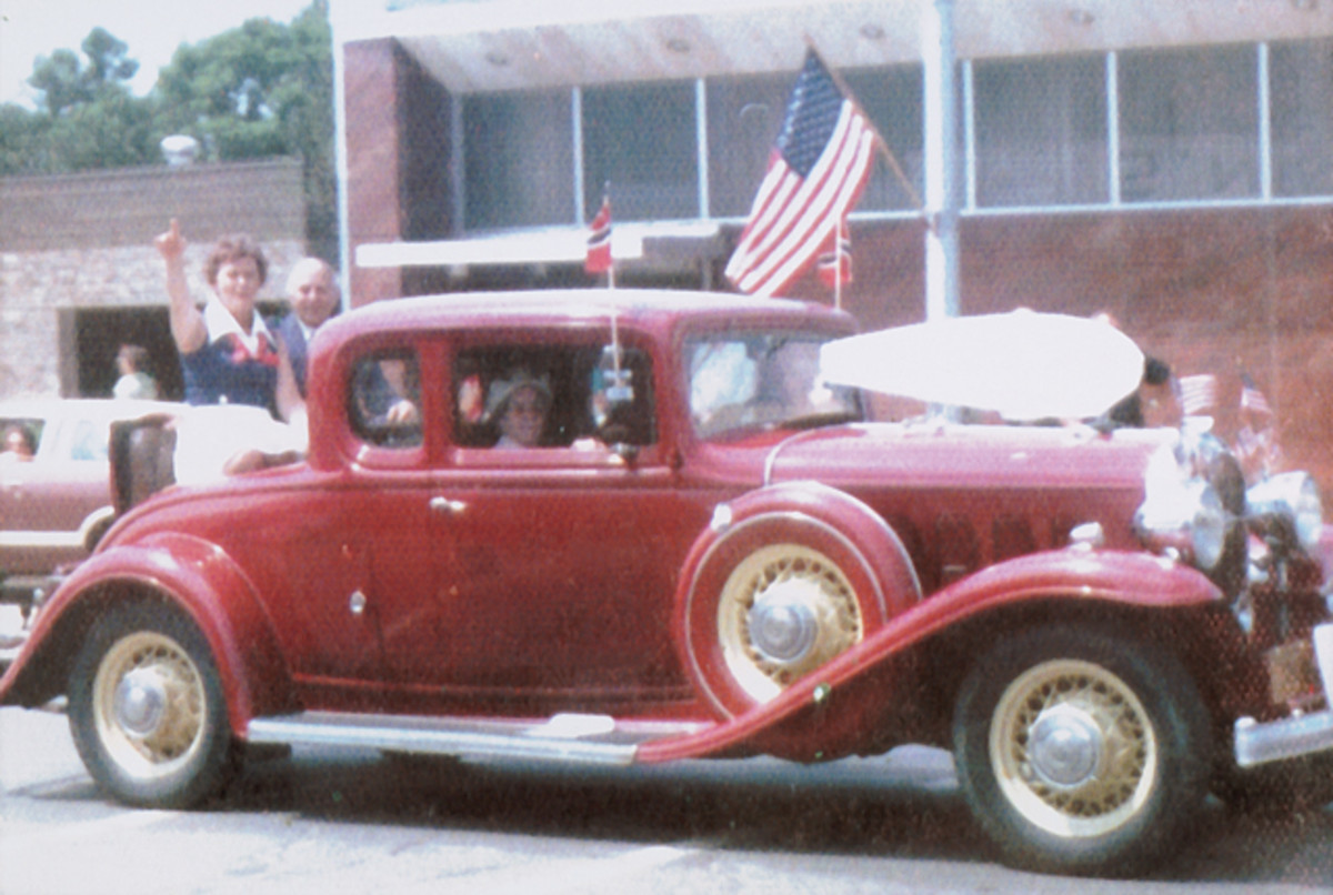 Since the 1950s, the Buick has been a parade veteran and is believed to have been in hundreds of parades in western Minnesota. Until the 1980s, the car was maroon with yellow wheels.