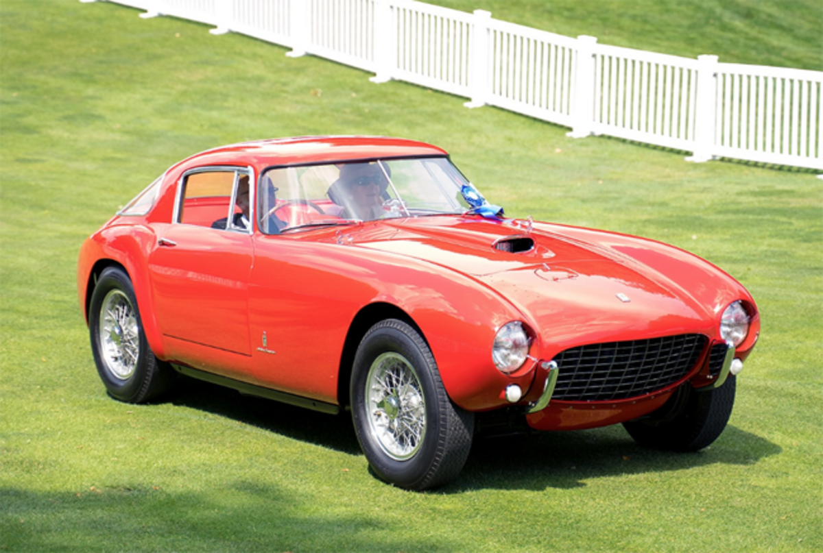 Founder's Award Best of Show-Foreign winner - 1954 Ferrari 375 Mille Miglia. Photo - Concours d'Elegance of America