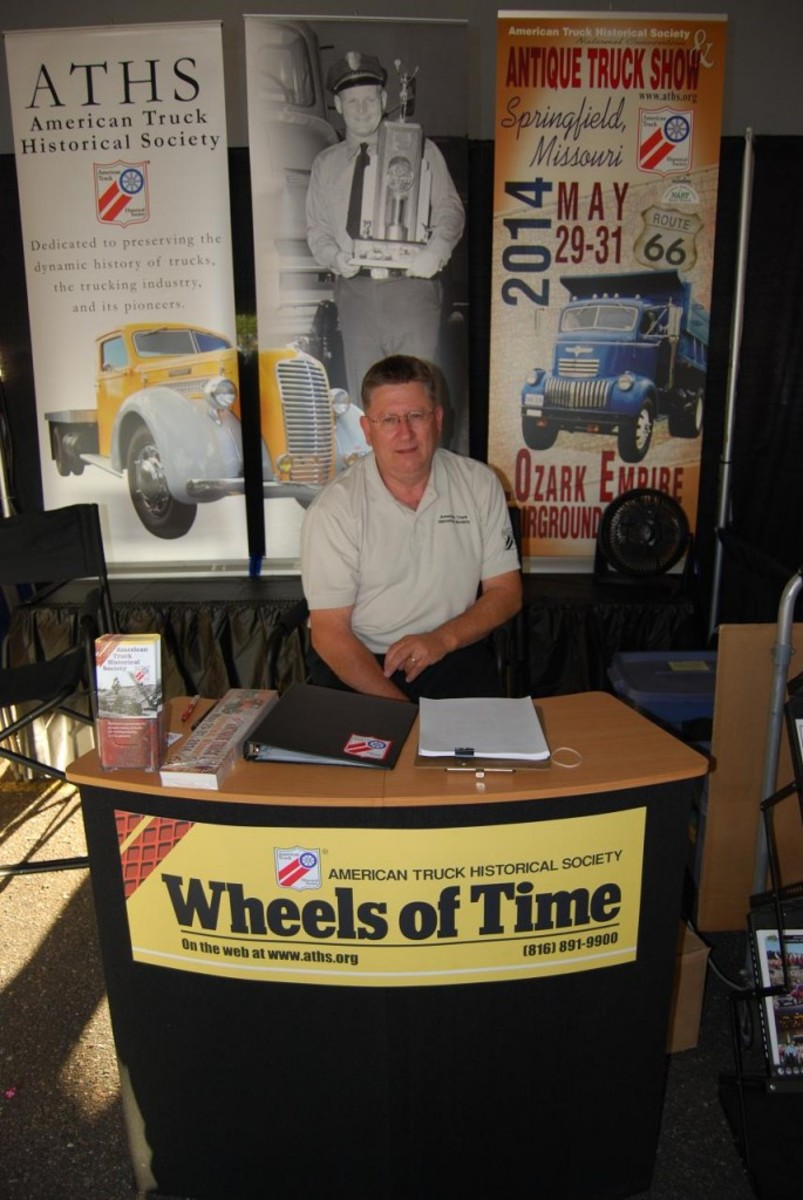 OCVW advertiser American Truck Historical Society had a booth.