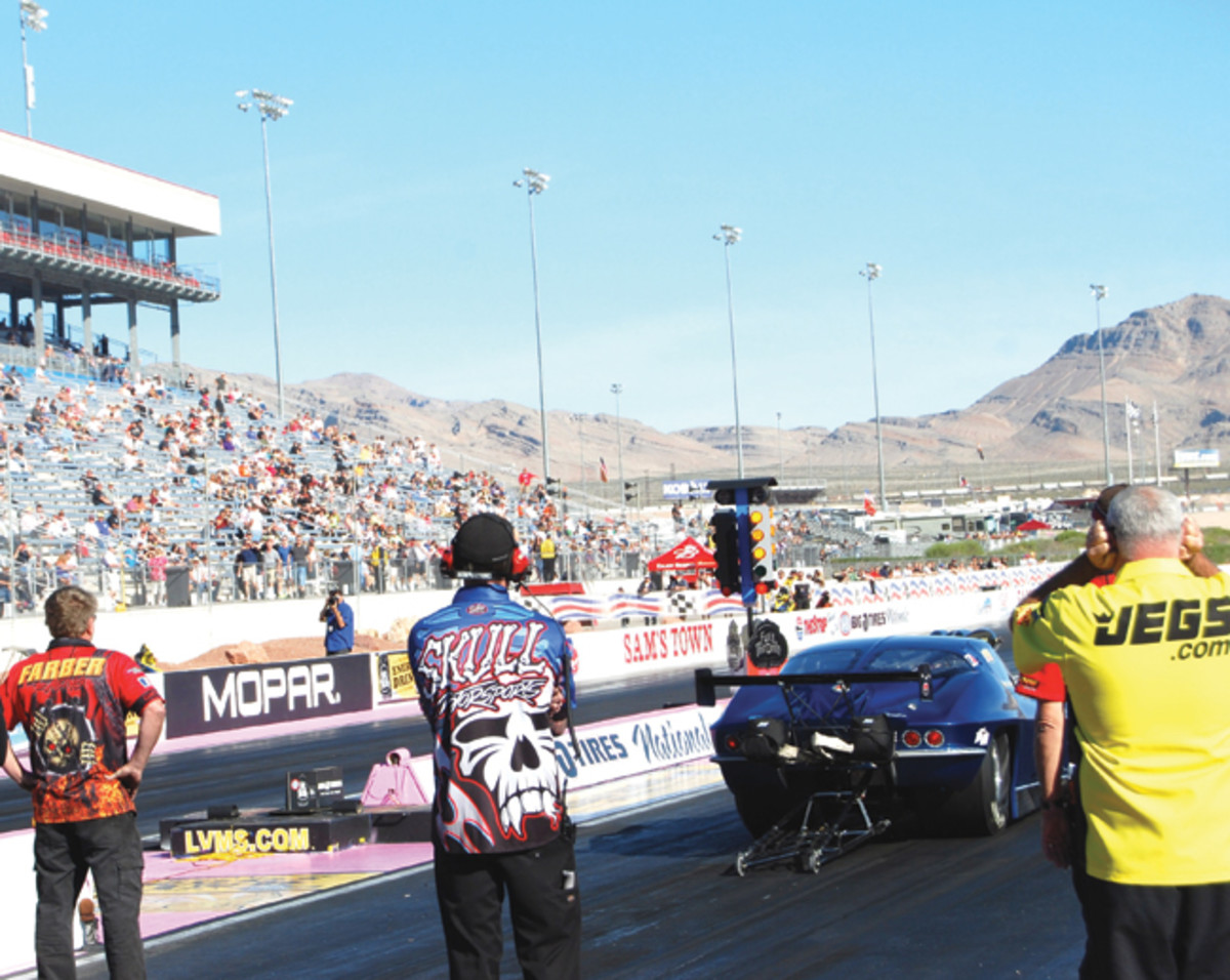 We started our SEMA 2012 trip with a stop at the NHRA drag races at Las Vegas Motor Speedway (www.LVMS.com) backed by Big O Tire Co.
