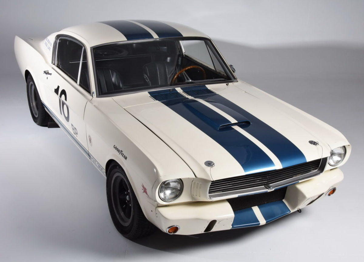 The Newport Car Museum's 1965 Mustang Shelby GT350R.