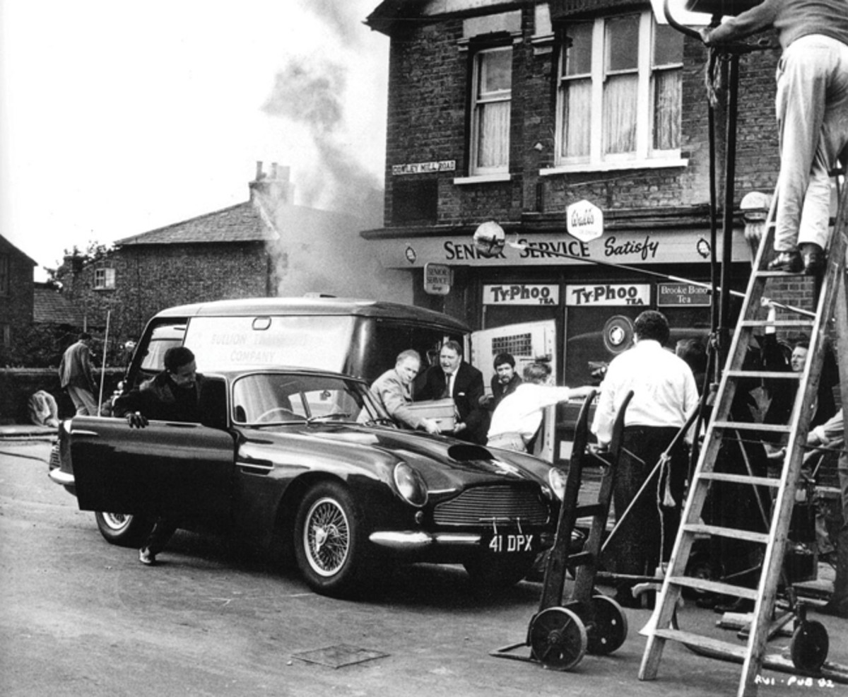 Peter Sellers exists the DB4GT in the 1963 film, The Wrong Arm of the Law
