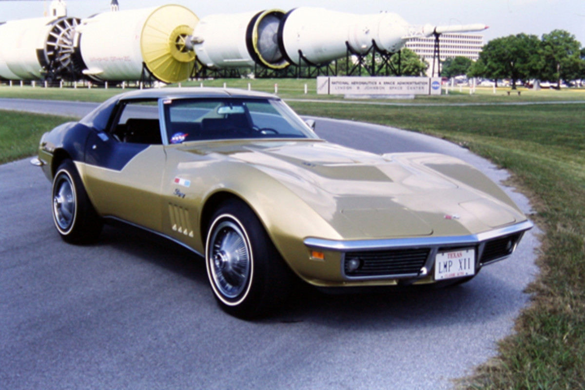 """Visitors can see this 1969 Corvette called the """"AstroVette,"""" once owned by Alan Bean, an Apollo 12 astronaut and the fourth human to set foot on the moon, at the Corvette Chevy Expo Feb. 15-16 in Houston, Texas."""