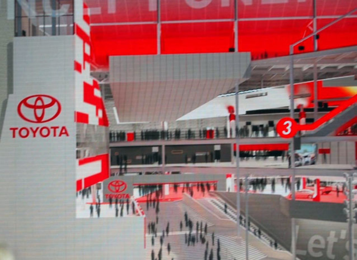 Artist concept sketches of the Toyota fan injector that will be built at Daytona.