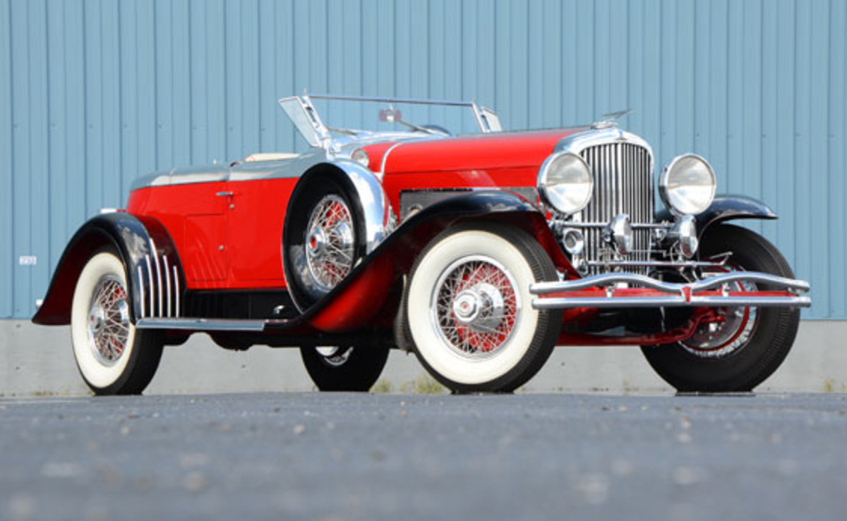 This 1930 Duesenberg Boattail Speedster sold for $484,000 on Saturday, June 2, during Auctions America by RM's second annual Auburn Spring auction in Auburn, Indiana. The three-day event saw 409 collector cars and trucks cross the block at the historic Auburn Auction Park.