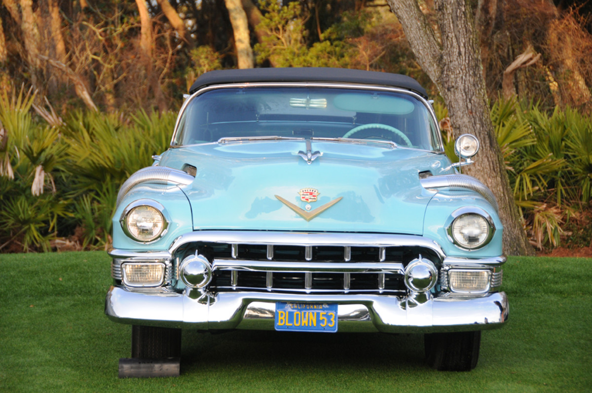 The only 1953 Eldorado to be fitted with exposed exhaust pipes and a supercharger was part of the Cadillac display at the Amelia Island Concours d'Elegance.