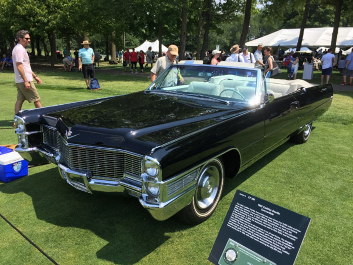 With fewer than 10,000 miles since new, this pristine unrestored 1965 Cadillac deVille convertible is owned by the original selling dealer, which eventually repurchased it from the first owner when he traded the car in for a new Eldorado in the 1990s.