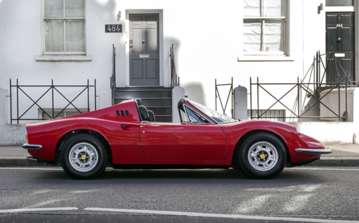 1973 Ferrari 246 Ddino GTS_Led Zeppelin_Peter Grant_COYS Fontwell House (Ph Martyn Goddard)_3
