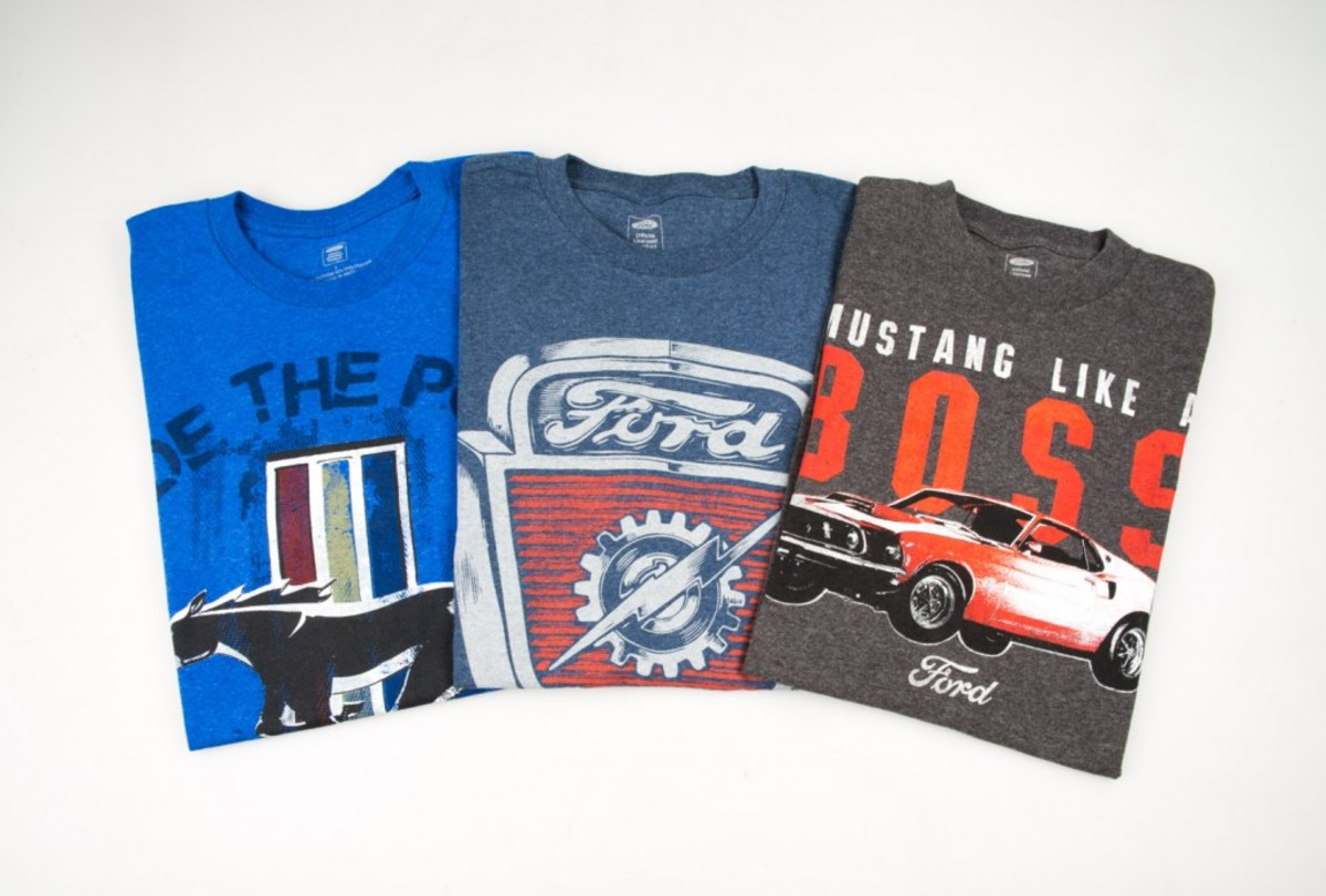 A selection of t-shirt offerings from Pep Boys