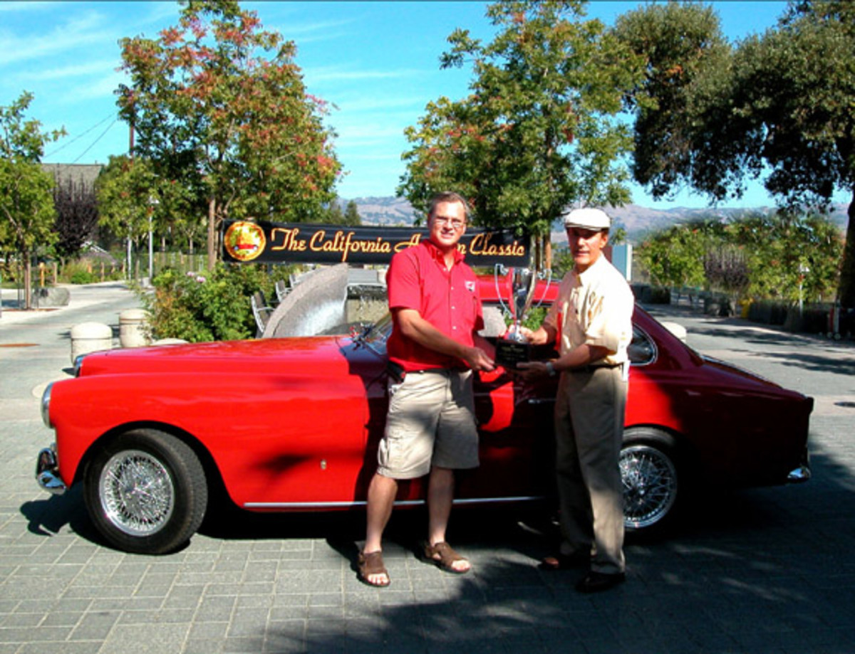 Grand winner for 2011 was Jim Silva with his 1953 MG Arnolt.