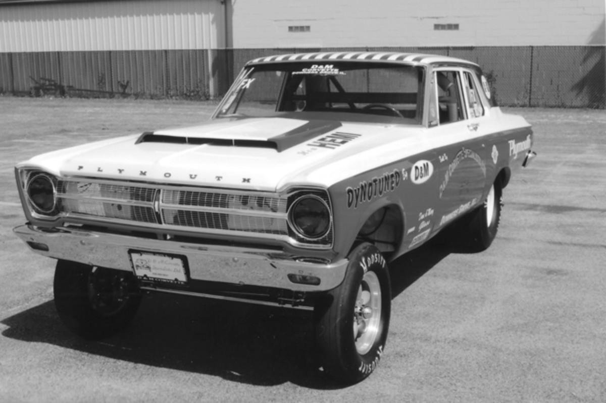 Factory-built Super Stockers had torsion bars, but Dave Glass, the owner of this '65 Plymouth Belvedere coupe, prefers a straight axle front suspension. The car is mostly restored, but the roof paint is from its original racing career.