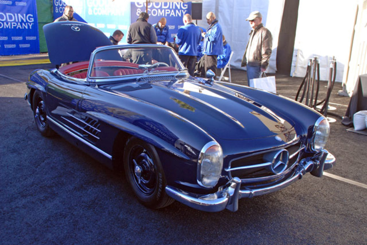 Setting a world record at Gooding's Saturday sale was this 1957 Merceders-Benz 300SL roadster, called sold for a bid of $1,400,000.