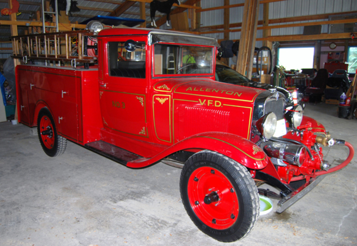 Six Allenton firefighters personally restored the Luverne-bodied fire truck.