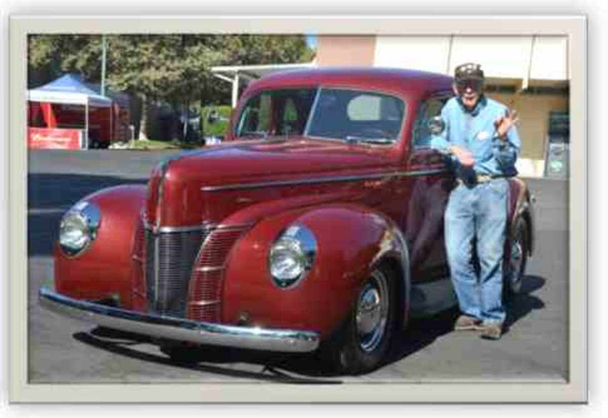 Tom Medley enjoyed driving to hot rod events in his '40 Ford coupe.