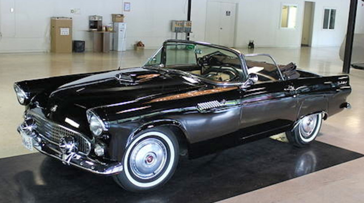 This pristine 1955 Ford Thunderbird Convertible is among the nearly 200 fine vehicles to be offered for sale at the 36th Annual New England Auto Auction on Saturday, Aug. 17.