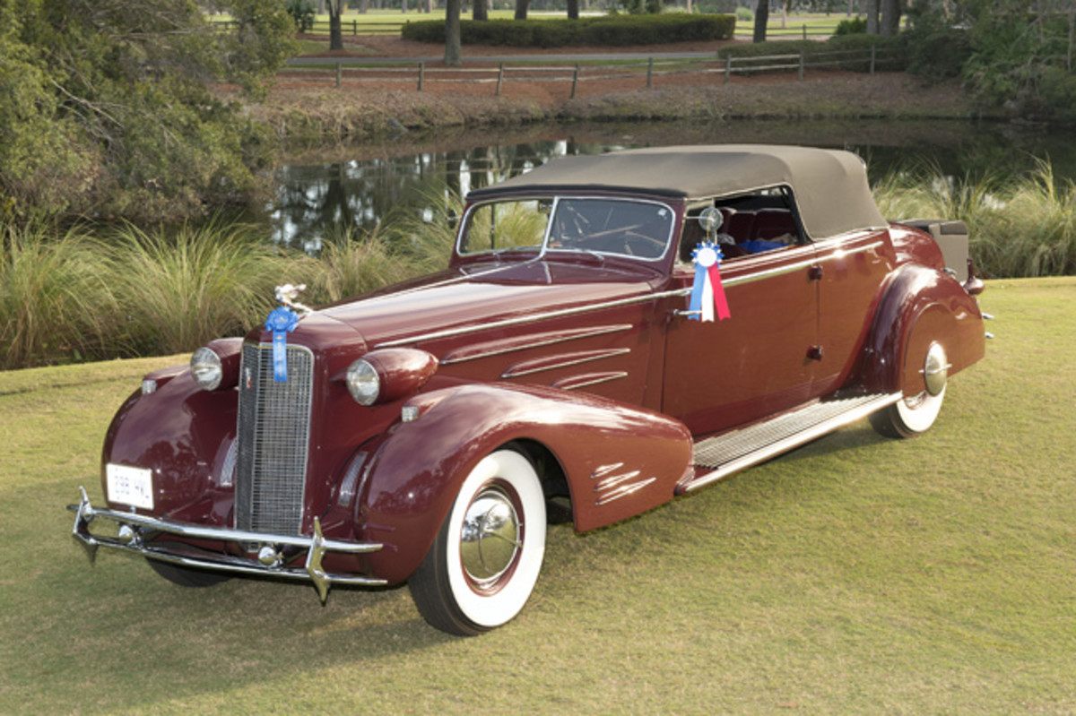 """""""Best of Show"""" 1934 Cadillac Victoria Convertible Coupe owned by Steven Plunkett of London, ON Canada."""
